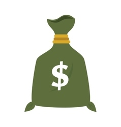 bag money dollar isolated vector image
