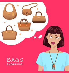 bags and shopping vector image vector image