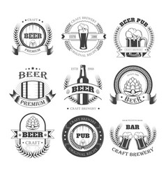 beer icons for brewery bar pub or product vector image vector image