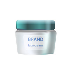 brand face cream icon on vector image vector image