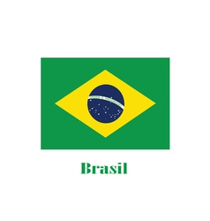 Brasil flag color vector