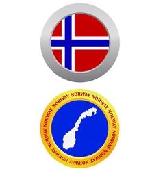 Button as a symbol norway vector