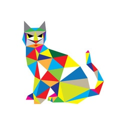 Cat in modern art vector