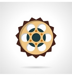 Chain sprocket flat color icon vector