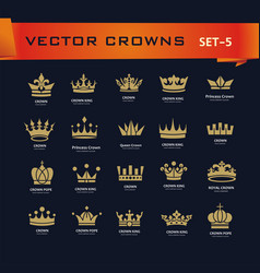 Collection of creative king queen princess pope vector
