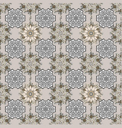 colorful seamless pattern flowers sketch floral vector image