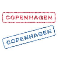 Copenhagen textile stamps vector