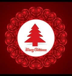 Creative greeting card for marry christmas vector