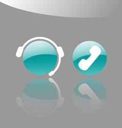 Customer Support Icons vector image