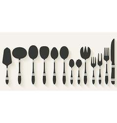 cutlery tableware set vector image vector image
