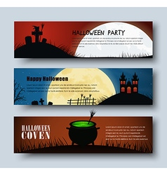 Design web banners for halloween vector