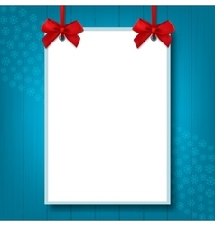 Empty blank a4 size holiday mock up poster vector