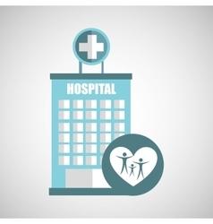 Family hospital icon building cross vector