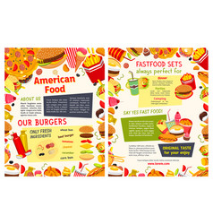 fast food restaurant takeaway menu template vector image vector image