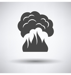 Fire and smoke icon vector image