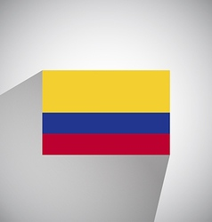 Flat flag of colombia vector