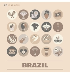 Flat icons brazil 8 vector