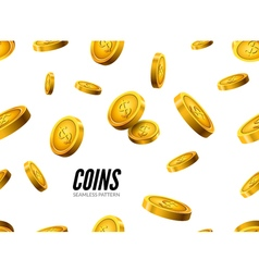 Gold coin seamless pattern Wealth business vector image vector image