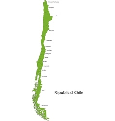Green Chile map vector image