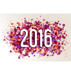 Happy new year 2016 circle color splash background vector