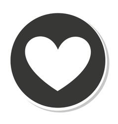 Heart button design vector