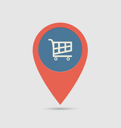 Map pin supermarket vector