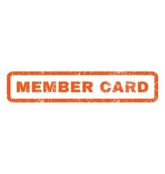 Member card rubber stamp vector