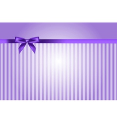 Purple background with bow vector