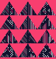 red retro triangle pattern vector image
