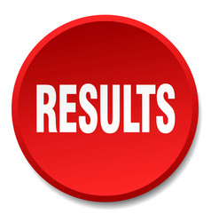 Results red round flat isolated push button vector