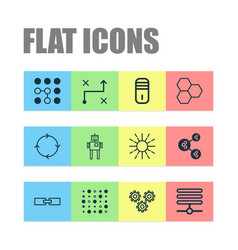 Robotics icons set collection of information base vector