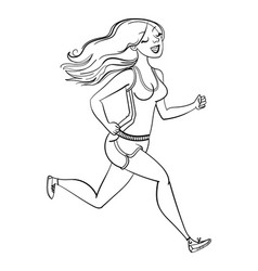 running woman fitness healthy lifestyle vector image