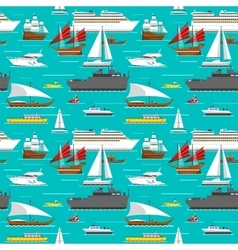 Sea transport pattern vector image vector image