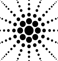 seamless black polka flower abstract pattern vector image vector image