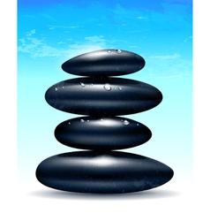 Spa zen stones vector image