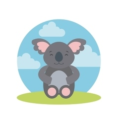 tender cute koala bear card icon vector image vector image