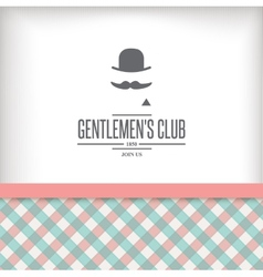Vintage label with gentleman vector