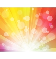 Rainbow sunshine effect with blurred dots like vector