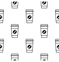 Cups of coffee pattern vector