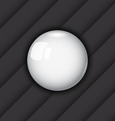 Glossy ball as speech bubble vector