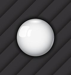 Glossy ball as speech bubble vector image
