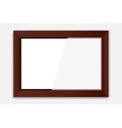 Wooden photoframe vector