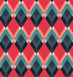 Retro red rhombus seamless pattern vector