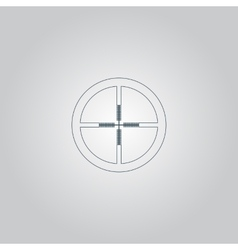 Icon of crosshair vector