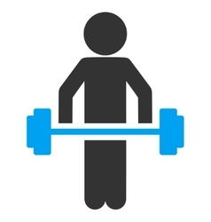 Child power lifting icon vector