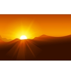 Abstract yellow sunset with defocused lights vector