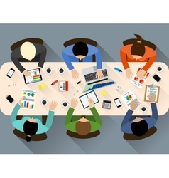 Staff around table vector