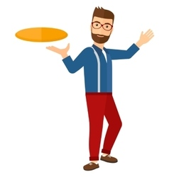 Man playing frisbee vector image