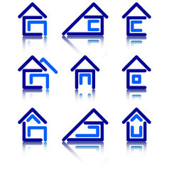 Icon set for construction vector