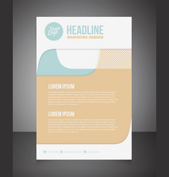Business brochure or offer flyer design template vector